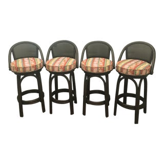 Ficks Reed Swivel Bar Stools - Set of 4