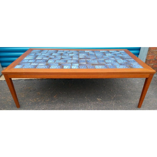 Blue Tiled Coffee Table - Image 2 of 7