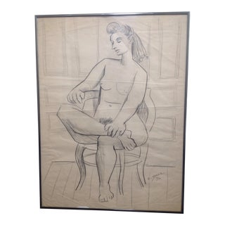 Ernst Stolz Charcoal Drawing