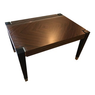 Wood Grain Laminate & Chrome Table