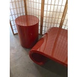 Image of Modern Orange Lacquered Tables - Set of 3