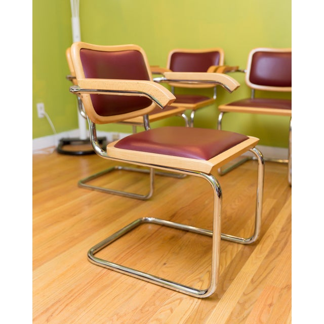 Image of Marcel Breuer Cesca Style Chairs - Set of Six