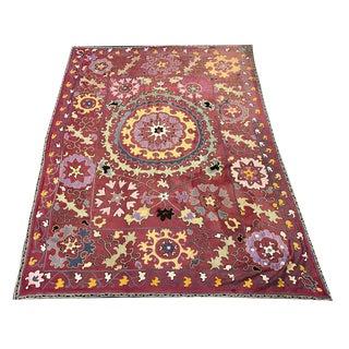 Antique Handmade Suzani Bedspread