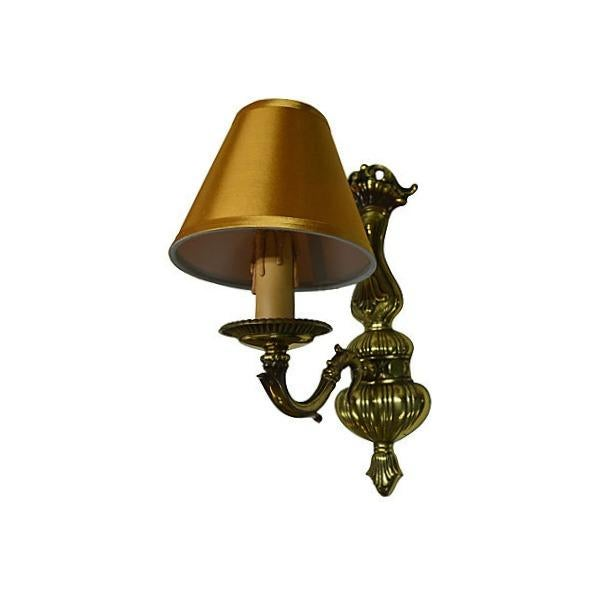 Image of Vintage French Boudoir Brass Sconce