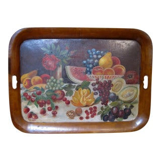 Painted Folk Art Tole Tray