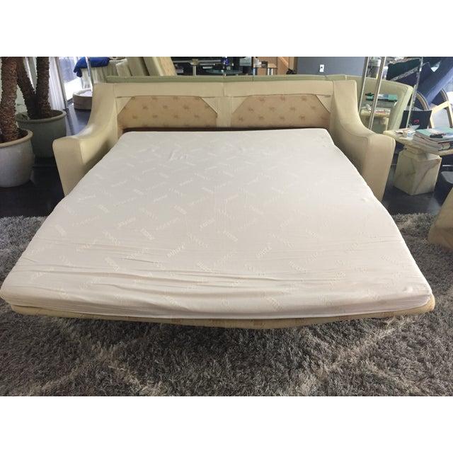 Roche Bobois Leather Sofa Sleeper - Image 6 of 9