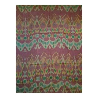 Vintage Indonisia Ikat heavy Silk Fabric