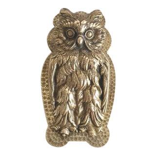 Brass Owl Paper Clip