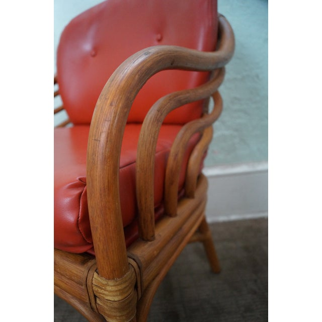 Brown Retro Jordan Rattan Dining Chairs - Set of 6 - Image 6 of 10