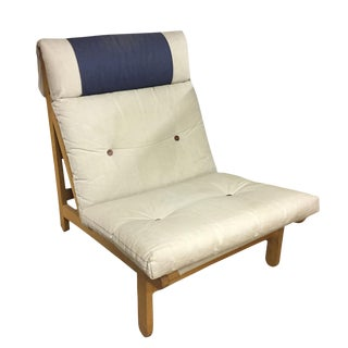 Wood Frame & Canvas Lounge Chair