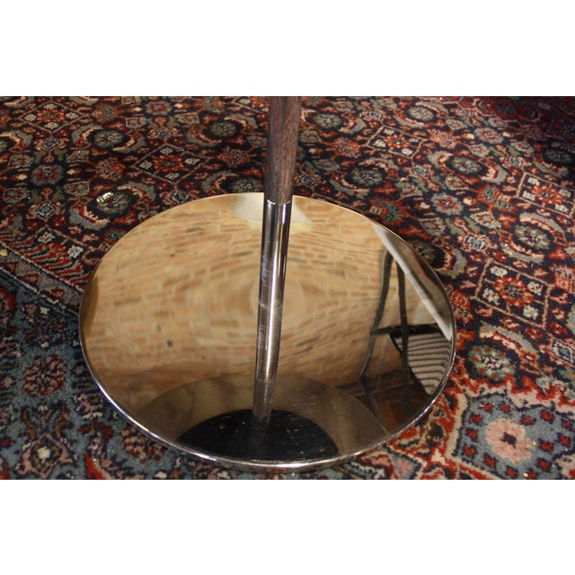 Image of Zographos White Marble & Chromed Steel Side Table