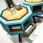 Image of Vintage Blue Drum Side Tables