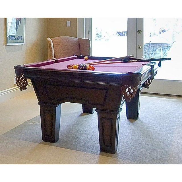 Brunswick Ventura Red Felt Pool Table