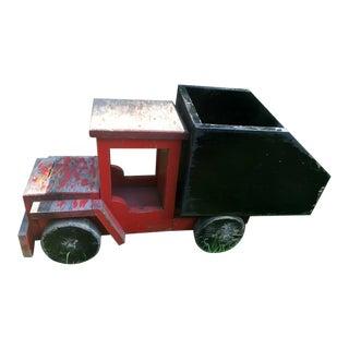 1930s Wooden Toy Dump Truck