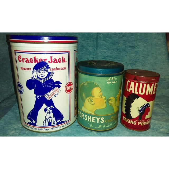 Vintage Snack & Baking Tins - Set of 3 - Image 2 of 3