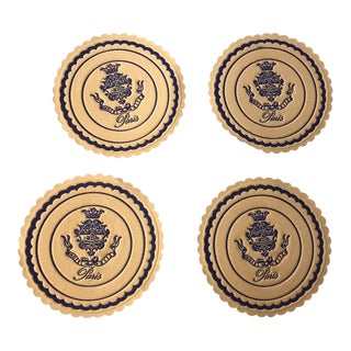 Vintage Ritz Carlton Pais Paper Drink Coasters - Set of 4