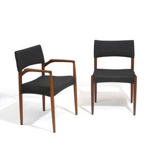 Aksel Bender Madsen Mid-Century Danish Teak Dining Chairs