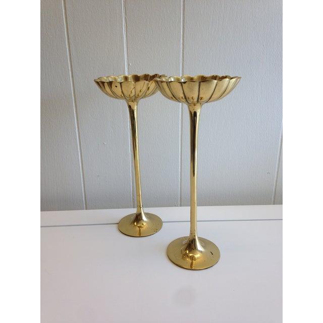 Image of Brass Lotus Candlestick
