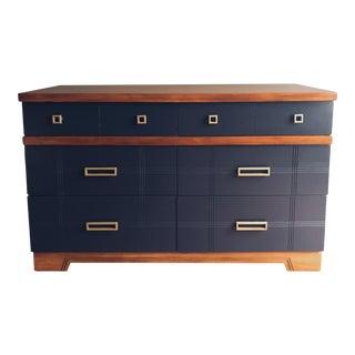 Coastal Blue Solid Wood Dresser