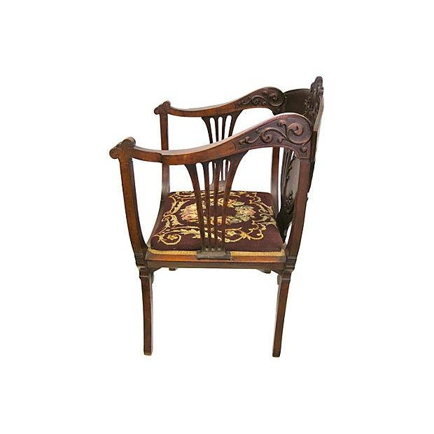 Inlaid Mahogany Armchair - Image 3 of 4