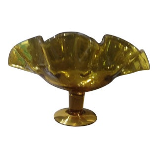 Antique Bischoff Early 60's Art Glass Compote