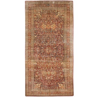 Exceptional Extremely Fine Antique Persian Meshed Gallery Carpet