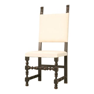 Set of Six Country French Throne Style Dining Chairs