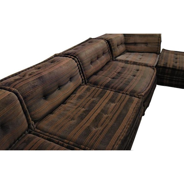 roche bobois vintage 16 piece mah jong sectional chairish. Black Bedroom Furniture Sets. Home Design Ideas
