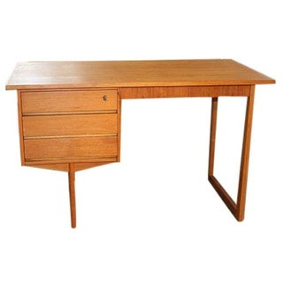 Mid-Century Danish Modern Teak Executive Desk