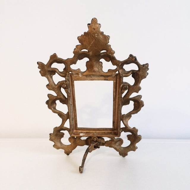 Cast Iron Gold Easel Frame - Image 3 of 3