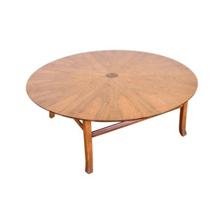 Mid-Century Round Walnut Coffee Table
