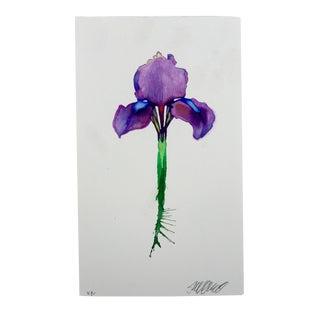 """""""Purple Flag"""" Original Watercolor"""