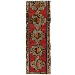 Vintage Turkish Kilim   4'1 x 13'4 Flatweave