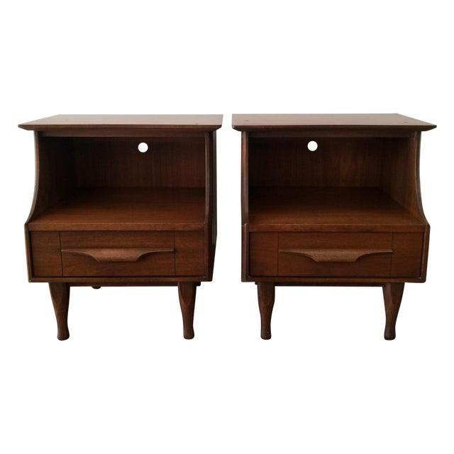 Mid-Century Stepped Side Tables - A Pair - Image 1 of 9