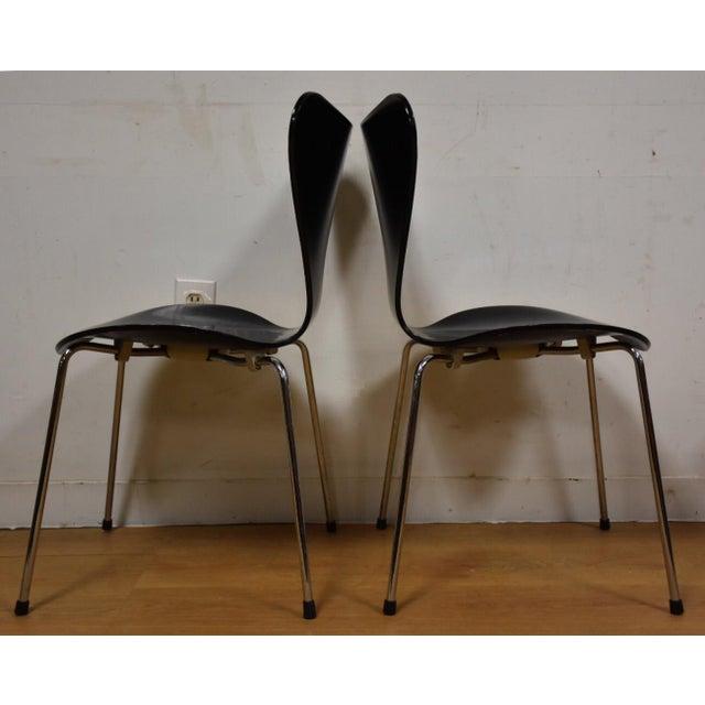 Arne Jacobsen Fritz Hansen Chairs - Set of 4 - Image 7 of 11