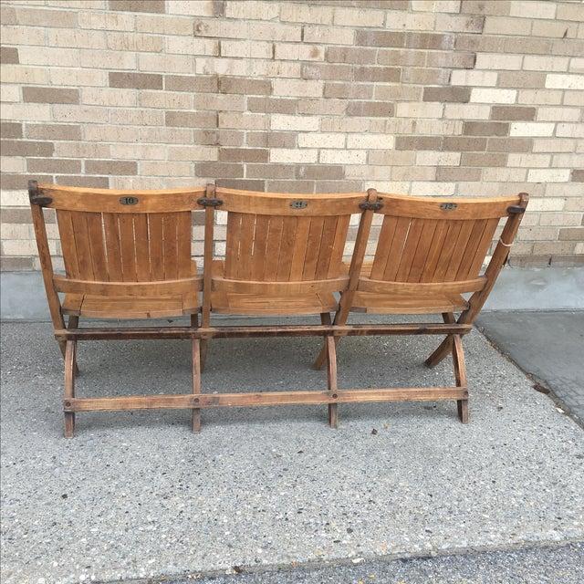 Vintage Tandem Folding Stadium Theatre Seats Chairish