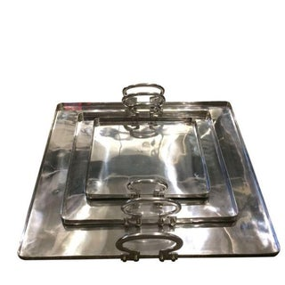 Italian Set of Three Aluminum Trays