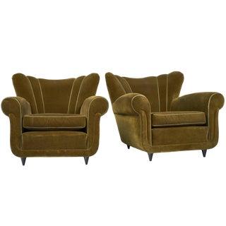 Italian Paolo Buffa Style Armchairs- A Pair