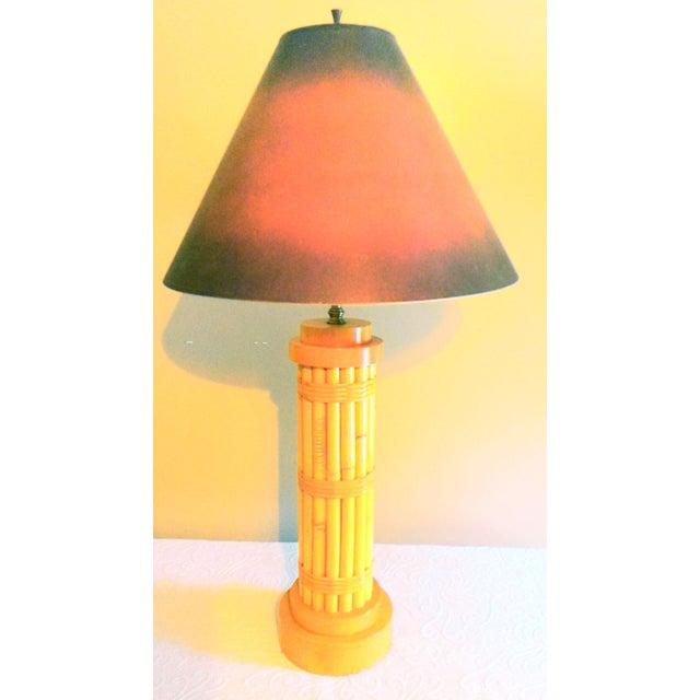 Vintage Regency Style Bamboo Lamp - Image 7 of 8