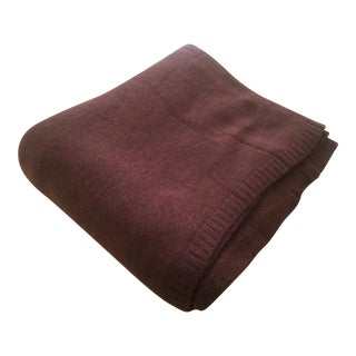 Chocolate Brown Cashmere Blanket