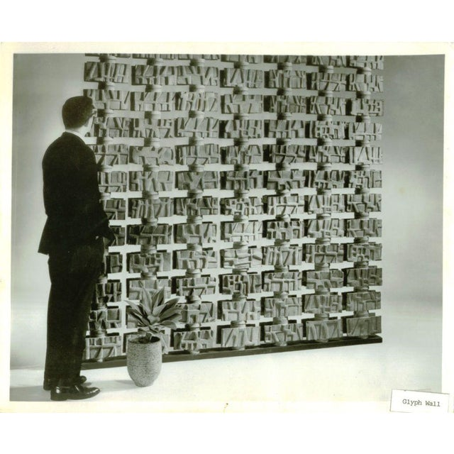 "Rare ""Glyph Wall"" by David Cressey for Architectural Pottery - Image 5 of 5"