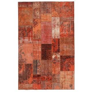 "Persimmon Overdyed Turkish Carpet - 6' 7"" x 10' 4"""