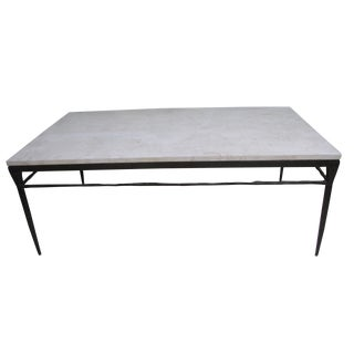 Bernhardt Wrought Iron Natural Stone Coffee Table