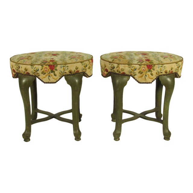 Yale Burge French Painted Stools - a Pair - Image 1 of 8