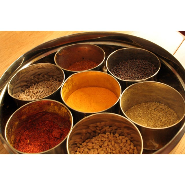 9-Spice Stainless Steel Masala Dabba Spice Box - Image 4 of 7