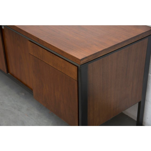 Rosewood Steel Office Credenza - Image 8 of 11