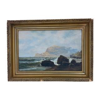 Antique Ocean Painting