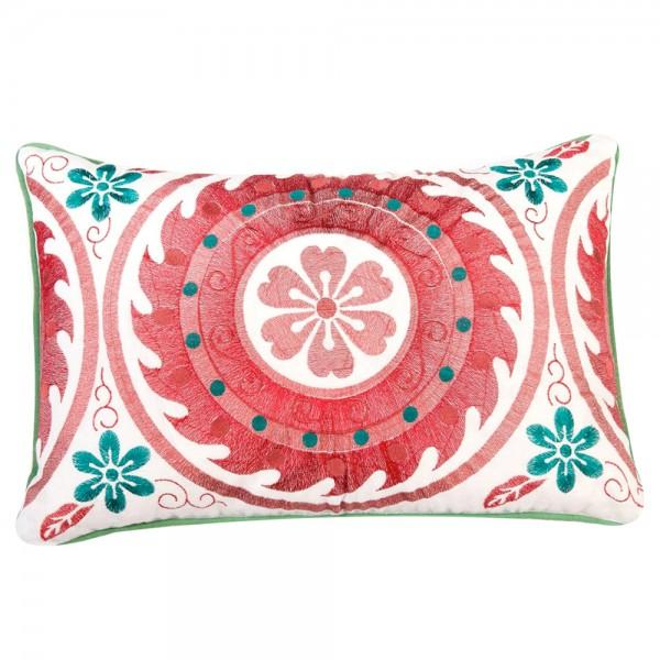Red Embroidered Moroccan Pillow - Image 1 of 2