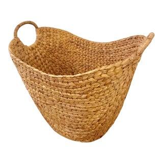 West Elm Large Curved Basket