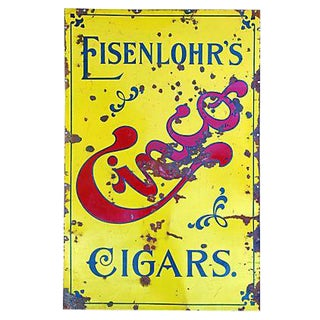 Large 1920s Porcelain Eisenlohr's Cigars Sign
